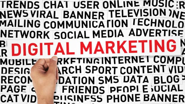 Digital marketing channels (infographic)